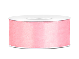 Tasiemka wstążka satynowa 25 mm/25 m j.róż (081J)