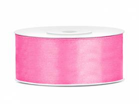 Tasiemka wstążka satynowa 25 mm/25 m różowa (08J)