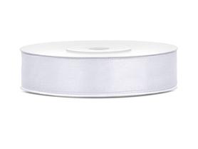Tasiemka wstążka satynowa 12 mm/25 m biała