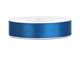 Tasiemka wstążka satynowa 12 mm/25 m niebieska