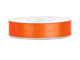Tasiemka wstążka satynowa 12 mm/25 m pomarańczowa