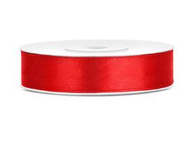 Tasiemka wstążka satynowa 12 mm/25 m czerwona