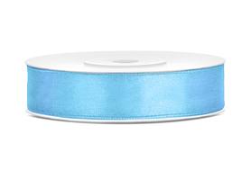 Tasiemka wstążka satynowa 12 mm/25 m błękitna