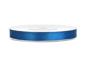 Tasiemka wstążka satynowa 6 mm/25 m niebieska