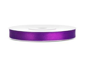 Tasiemka wstążka satynowa 6 mm/25 m purpurowa (062)