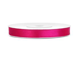 Tasiemka wstążka satynowa 6 mm/25 m c.różowa (006)