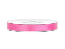 Tasiemka wstążka satynowa 6 mm/25 m różowa (081)