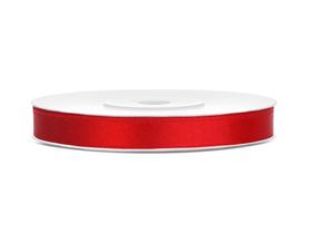 Tasiemka wstążka satynowa 6 mm/25 m czerwona (007)
