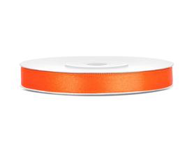 Tasiemka wstążka satynowa 6 mm/25 m pomarańczowa (005)