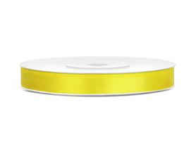 Tasiemka wstążka satynowa 6 mm/25 m żółta