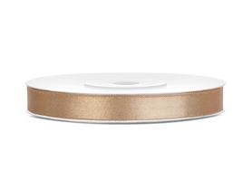 Tasiemka wstążka satynowa 6 mm/25 m j.złoto (019J)