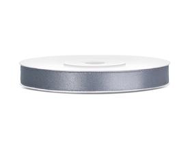 Tasiemka wstążka satynowa 6 mm/25 m szara (091)