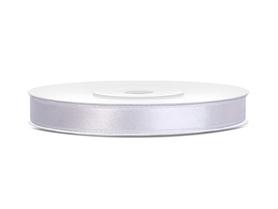 Tasiemka wstążka satynowa 6 mm/25 m biała (008)