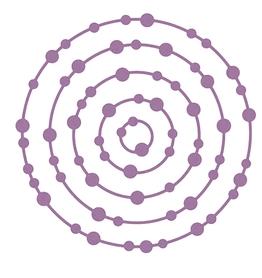 Wykrojnik Ramki okrągłe z kropkami 5 el. (12367-U4)