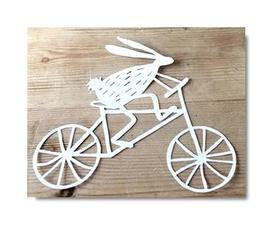 Wykrojnik Królik Zając na rowerze (1467-R3)