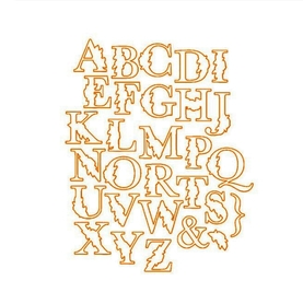 Wykrojniki + stemple  Alfabet (2934)