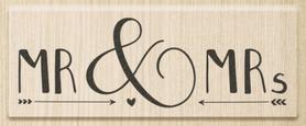 Stempel drewniany Mr & Mrs (1800015)