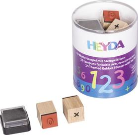 Zestaw stempli w pudełku Cyfry 15 szt + tusz (78)