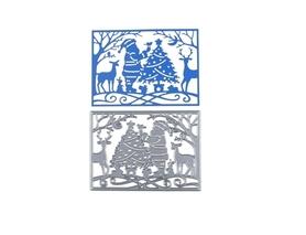 Wykrojnik Scena świąteczna z mikołajem (W417)