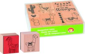Zestaw stempli drewnianych Lama 10 szt (76)
