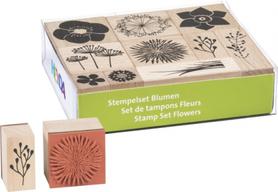 Zestaw stempli drewnianych Kwiaty 10 szt (90)