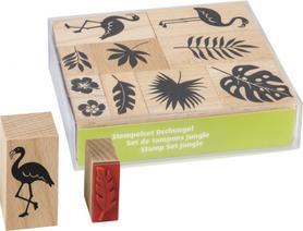 Zestaw stempli drewnianych Dżungla 10 szt (84)