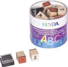 Zestaw stempli w pudełku Alfabet 30szt + tusz (79)