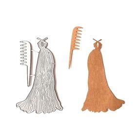 Wykrojnik Sukienka + grzebyk (15-B4)