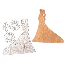 Wykrojnik Sukienka + kwiatki (2-B4)