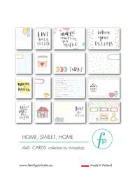 Karty do journalingu FP - HOME, SWEET HOME