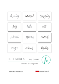 Karty do journalingu FP - LITTLE STORIES