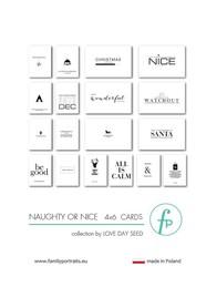 Karty do journalingu FP - NAUGHTY OR NICE