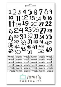 WEEK NUMBERS - NAKLEJKI TRANSPARENTNE
