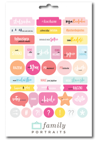 BABY GIRL PL / CHIPBOARD STICKERS