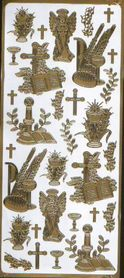 Naklejka ozdobna KOMUNIJNA 1845 złota