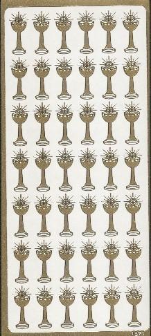 Naklejka ozdobna KIELICH PEŁNY 1871 złoty
