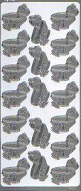 Naklejka ozdobna CHRZEST 4220 srebry