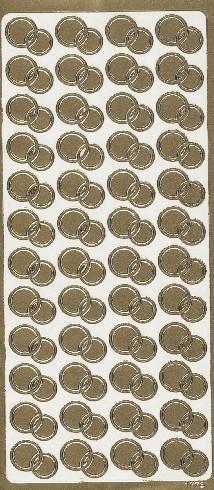 Naklejka ozdobna OBRĄCZKI OKRĄGŁE złote 1773Z