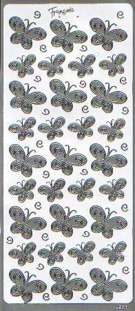 Naklejka ozdobna MOTYLKI 4281 srebrne
