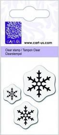 Stempel silikonowy - Śnieżynki (777)