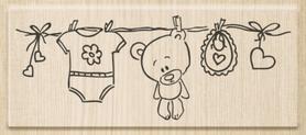 Stempel drewniany, Sznurek dziecięcy (18012 02)