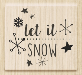 Stempel drewniany, Let in snow (18004 03)