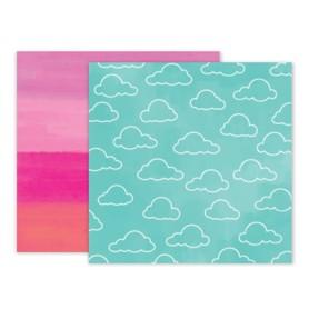 Arkusz papieru 30x30 Pink Paislee summer lights 5