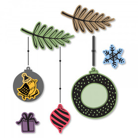 Wykrojnik Sizzix + stemple - Hanging Ornaments 663680