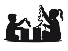 Wykrojnik Dzieci Prezenty (12819/3-M2)