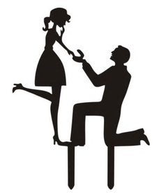 Topper akrylowy - Para Zaręczyny