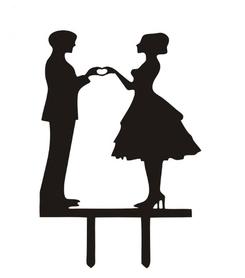 Topper akrylowy - Para Miłość