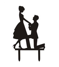 Topper akrylowy - Para Zaręczyny 2