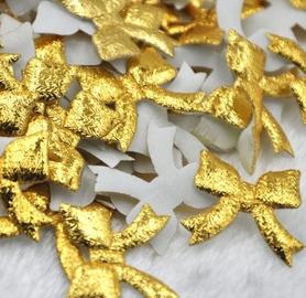 Kokardki złote błyszczące 10 szt. (UP7)
