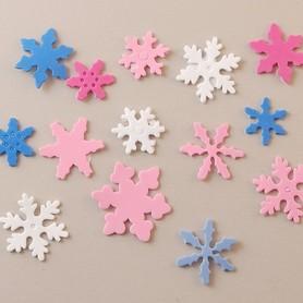 Naklejki z pianki - Śnieżynki 80 szt. (1025-07)